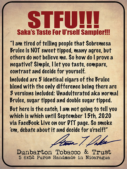 Saka's Taste for U'rself Sampler - Pre-Order