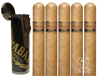 Tabak 5 Cigar Gift Set With Branded Lighter