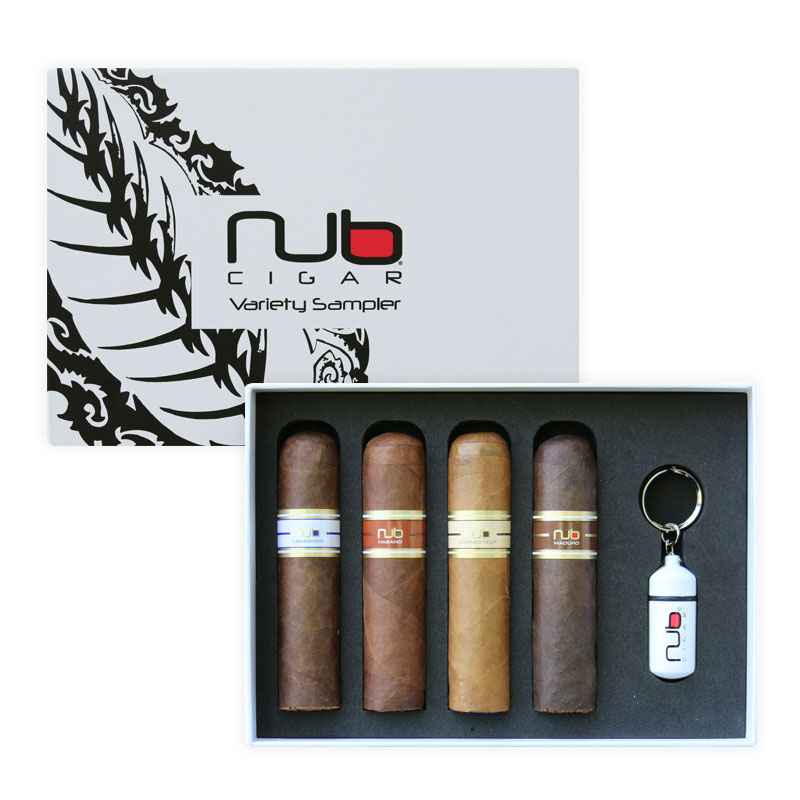 Nub Cigar Variety Sampler with Punch Cutter