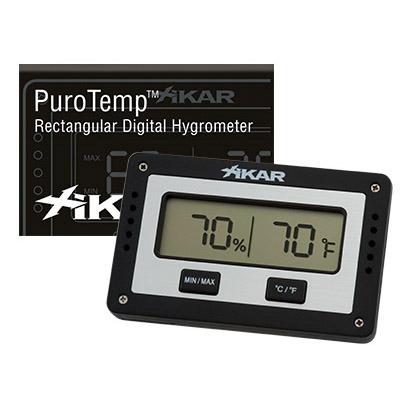 Xikar Adjustable Rectangle Digital Hygrometer