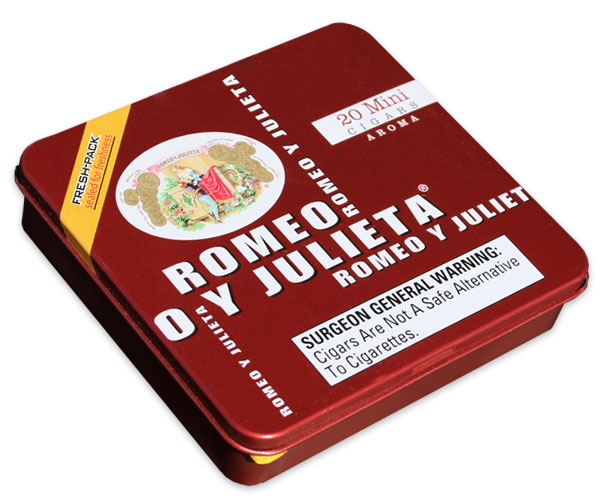 Romeo y Julieta Mini Aroma (Red) - 5 Tins of 20