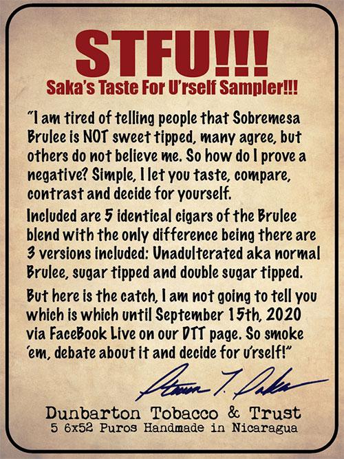 Saka's Taste for U'rself Sampler - Pre-Order