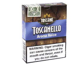 Toscanello Anice Cigarillos - 10 Packs of 5