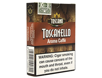Toscanello Cafe Cigarillos - 10 Packs of 5 SALE