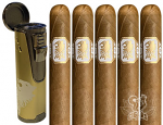 Undercrown Shade 5 Cigar Gift Set With Branded Lighter