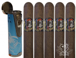 Deadwood Fat Bottom Betty 5 Cigar Gift Set With Branded Lighter