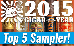 Cigar Dojo 2015 Top 5 Cigars of the Year Sampler